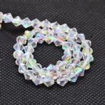 AB Clear Grade AA 4mm Faceted Glass Bicone